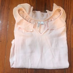 Size large. Elle. Baby pink long sleeve blouse